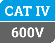 Safety Cat IV at 600V label