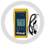 Solar Irradiance meter with suction mount PV Module temp sensor